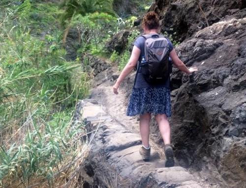 De Masca Kloof afdalen, een top wandeling