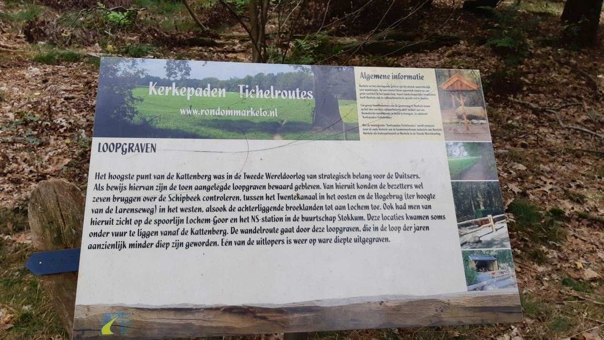 Loopgraven Kattenberg - bord Kerkepaden - Tichelroutes