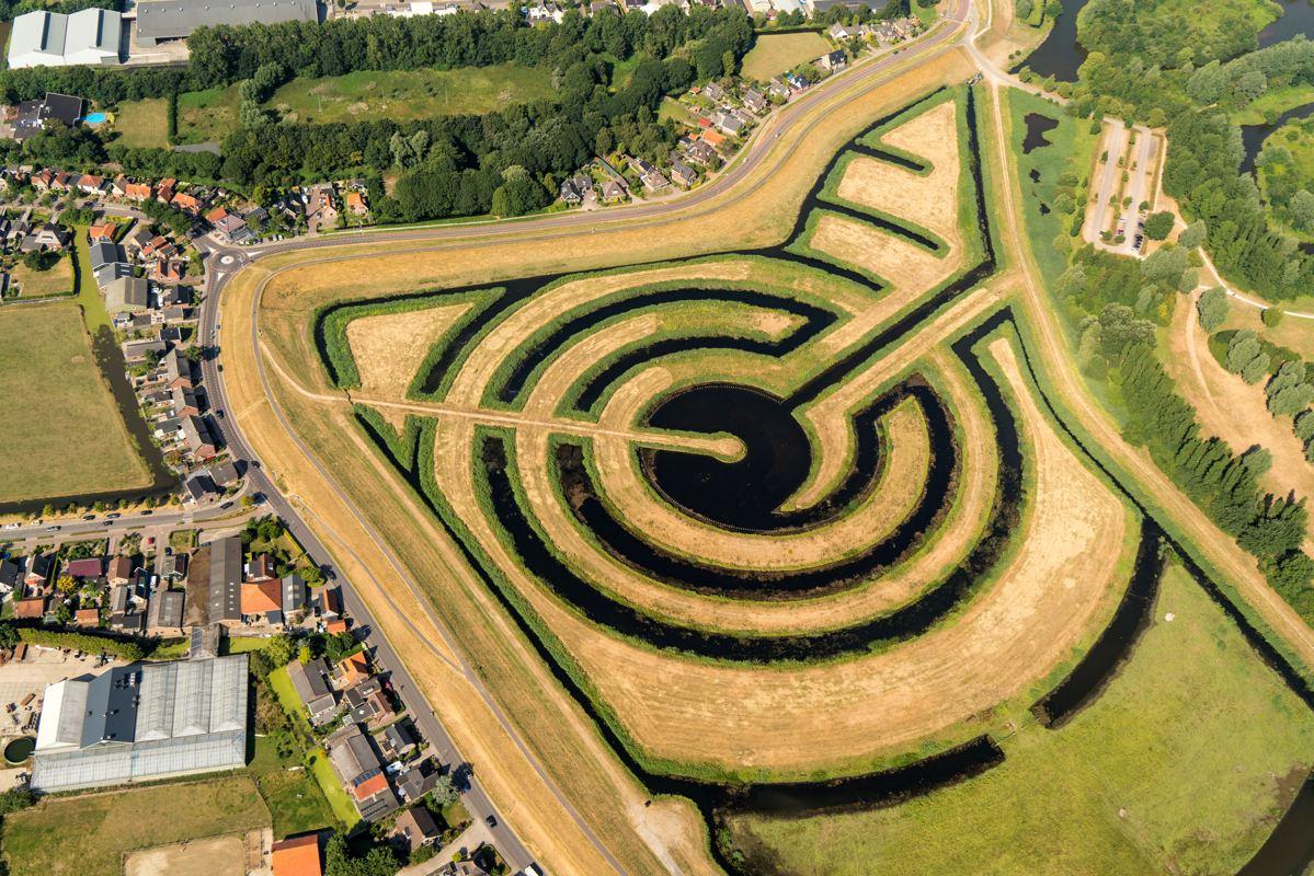 Luchtfoto Koopmanspolder gemeente Medemblik