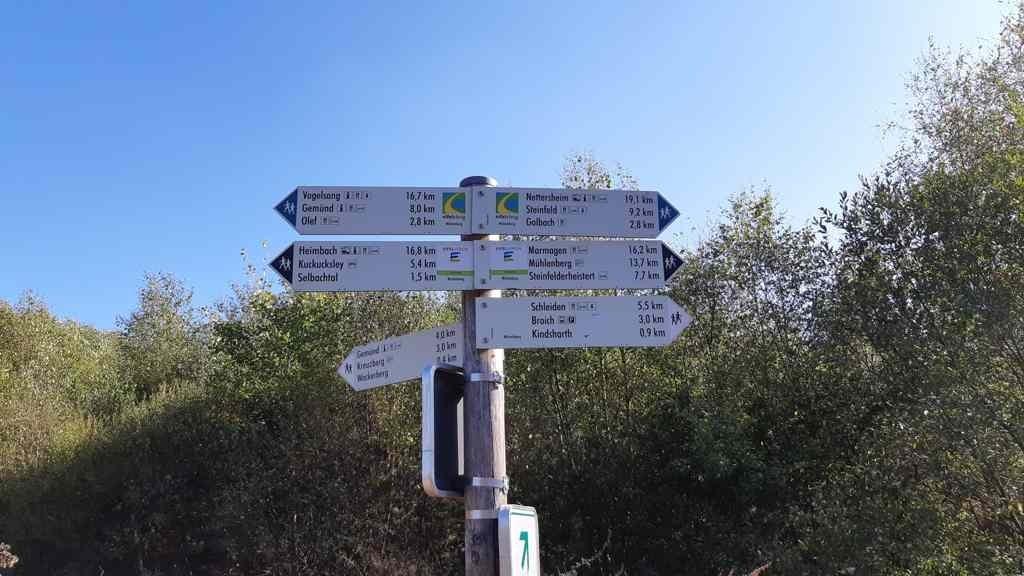 Eifelsteig etappe 5 - routebord