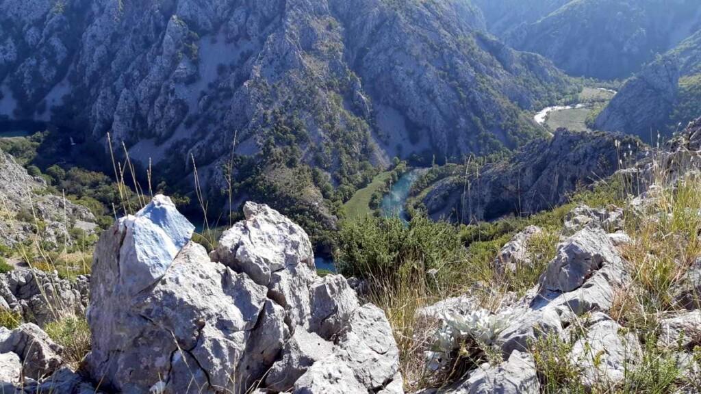 Vieuw op de rivier Krupa