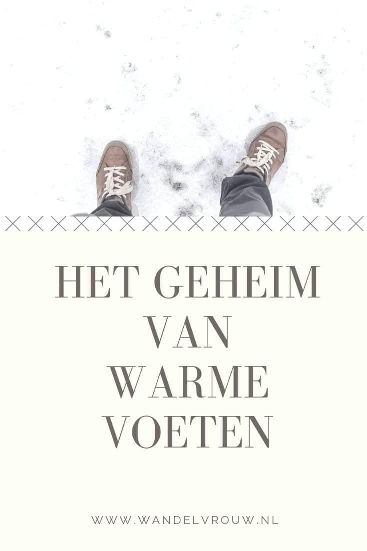het geheim van warme voeten