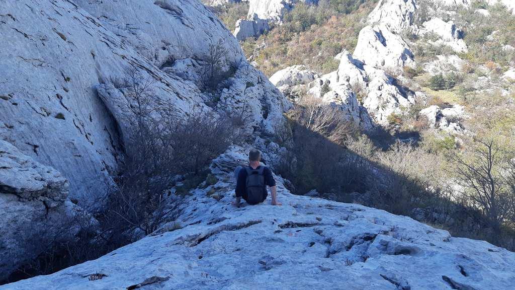 Afdalen van de Bojin kuk - Bojinac
